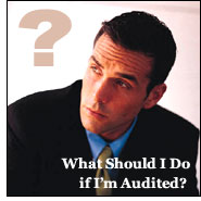 "What Should I Do if I Am Audited? For an office audit, you must call for an appointment as soon as possible. Next, you should consult with the person who prepared your tax return for help in determining which records will be needed for the audit. After you have found all your receipts and documents needed for the audit, put them in order for the appointment. If you take a bag of receipts to ""dump"" on the auditor's desk, the auditor will probably make you take them home to organize them."